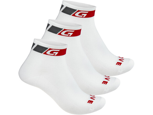 GripGrab Classic Low Cut Socks 3-Pack white